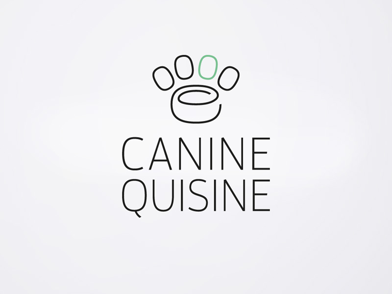 Logo design for Canine Quisine, Design Ward, Sydney