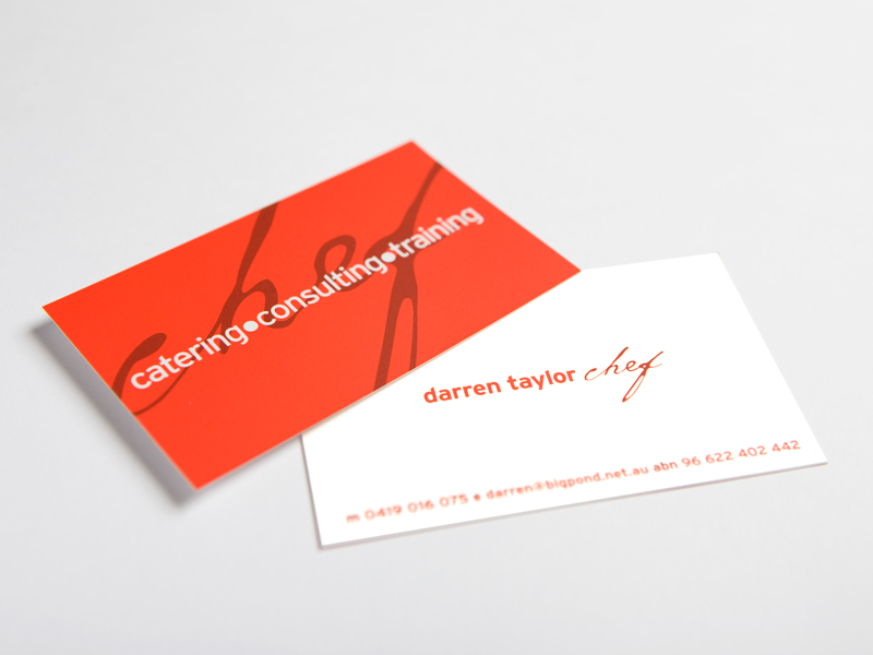 Darren Taylor Business Cards, Design Ward, Sutherland Shire