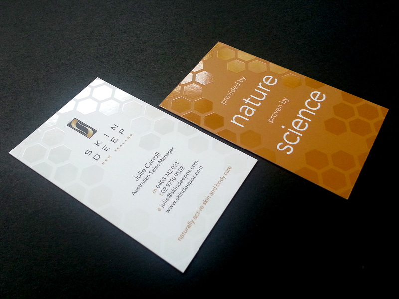Skin Deep Business Cards, Design Ward, Sutherland Shire