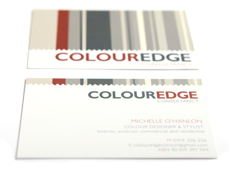 Colour Edge Business Cards by Design Ward - Sutherland Shire
