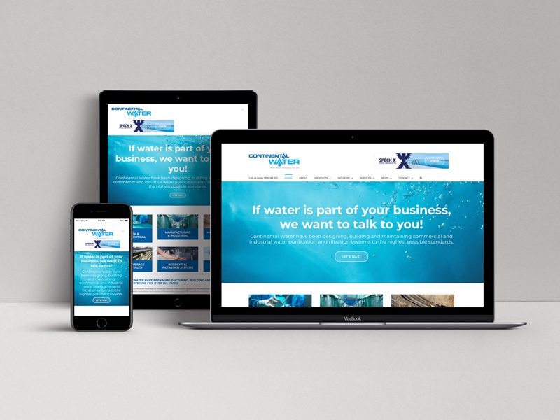 Continental Water Website design