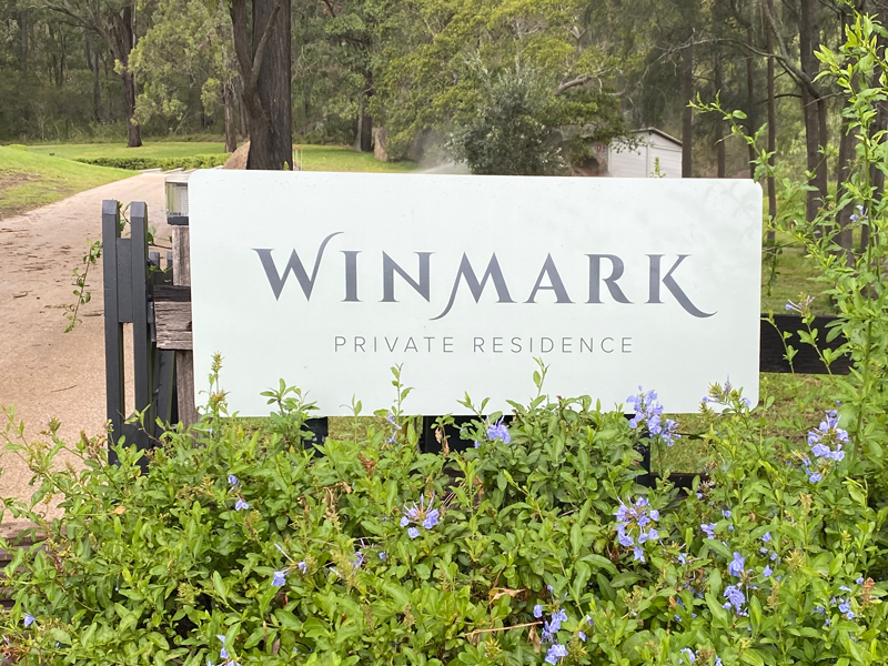 Winmark Private Residence Sign